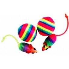 ЕвроПродукт УЮТ,игрушка-погремушка мышь+мячь полосатая,4 см.