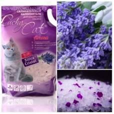 Lucky Cat,силикагелевый наполнитель с ароматом лаванды,7,6л.(3,4кг.)
