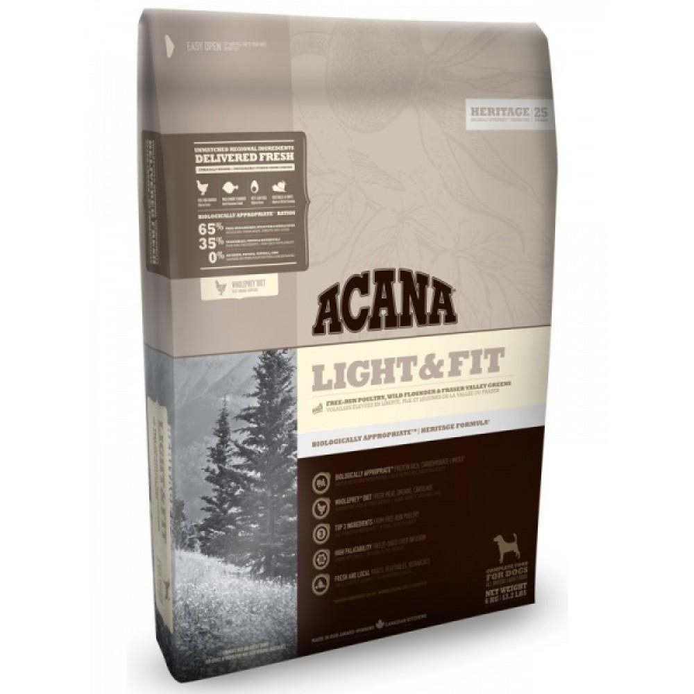 Acana Heritage Light & Fit 11,4 кг Акана лайт энд фит