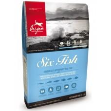 Orijen Six Fish Dog 6 кг Ориджен 6 рыб дог