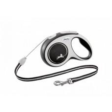 Flexi New Comfort М,поводок-рулетка черная ,для собак до 20 кг.,трос 5 м.