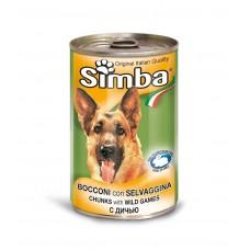 Simba Cans,кусочки с икрой и дичью для собак,1230гр.