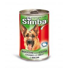 Simba Cans,кусочки с мясом для собак, банка 1230 гр.