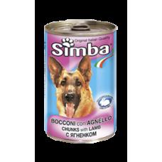 Simba Cans,кусочки с бараниной для собак, банка 1230 гр.