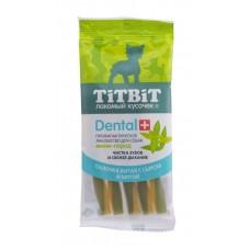 TitBit ДЕНТАЛ+ Палочка витая с сыром для собак мини-пород