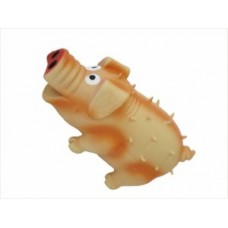 ЕвроПродукт №1,свинка оранжевая с пищалкой,латексная,10 см.