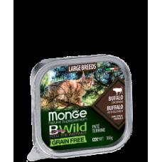 Monge BWild Cat Grain Free Paté terrine Bufalo буйвола с овощами для кошек крупных пород 100г