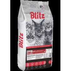 BLITZ ADULT CAT BEEF, сухой корм для взрослых  кошек Говядина, 10кг