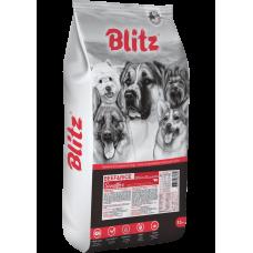 BLITZ ADULT BEEF & RICE, корм для взрослых собак говядина с рисом, 15 кг