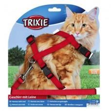 Trixie,шлейка с поводком для крупных кошек,нейлоновая,34-57 см.