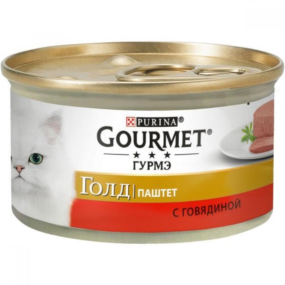 Gourmet Gold,паштет с говядиной, баночка 85 гр.