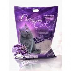 Lucky Cat,силикагелевый наполнитель с ароматом лаванды,11л.(5кг.)