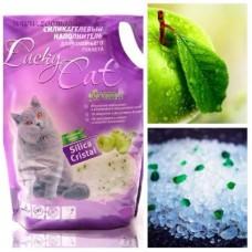 Lucky Cat,силикагелевый наполнитель с ароматом яблока,7,6л.(3,4кг.)
