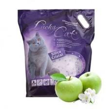 Lucky Cat,силикагелевый наполнитель с ароматом яблока,11л.(5кг.)