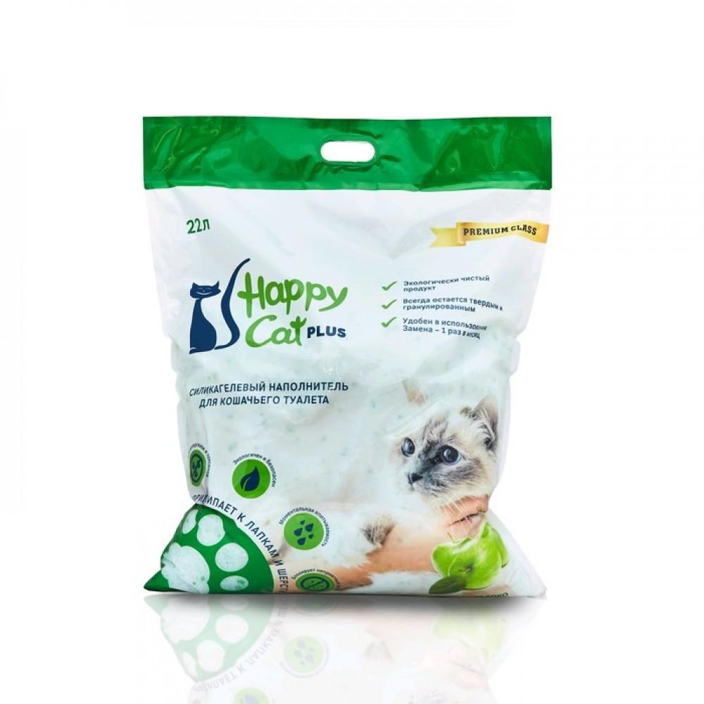 Happy Cat plus,силикагелевый наполнитель для кошек с ароматом яблока,уп.3,8л.