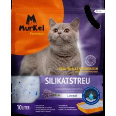 Murkel,силикагелевый наполнитель для кошек с ароматом лаванды,уп.10л(4,5 кг.)