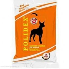 Polidex,влажные салфетки для шерсти собак и кошек,уп.15 шт.