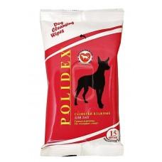Polidex,влажные салфетки для лап кошек и собак,уп.15 шт.