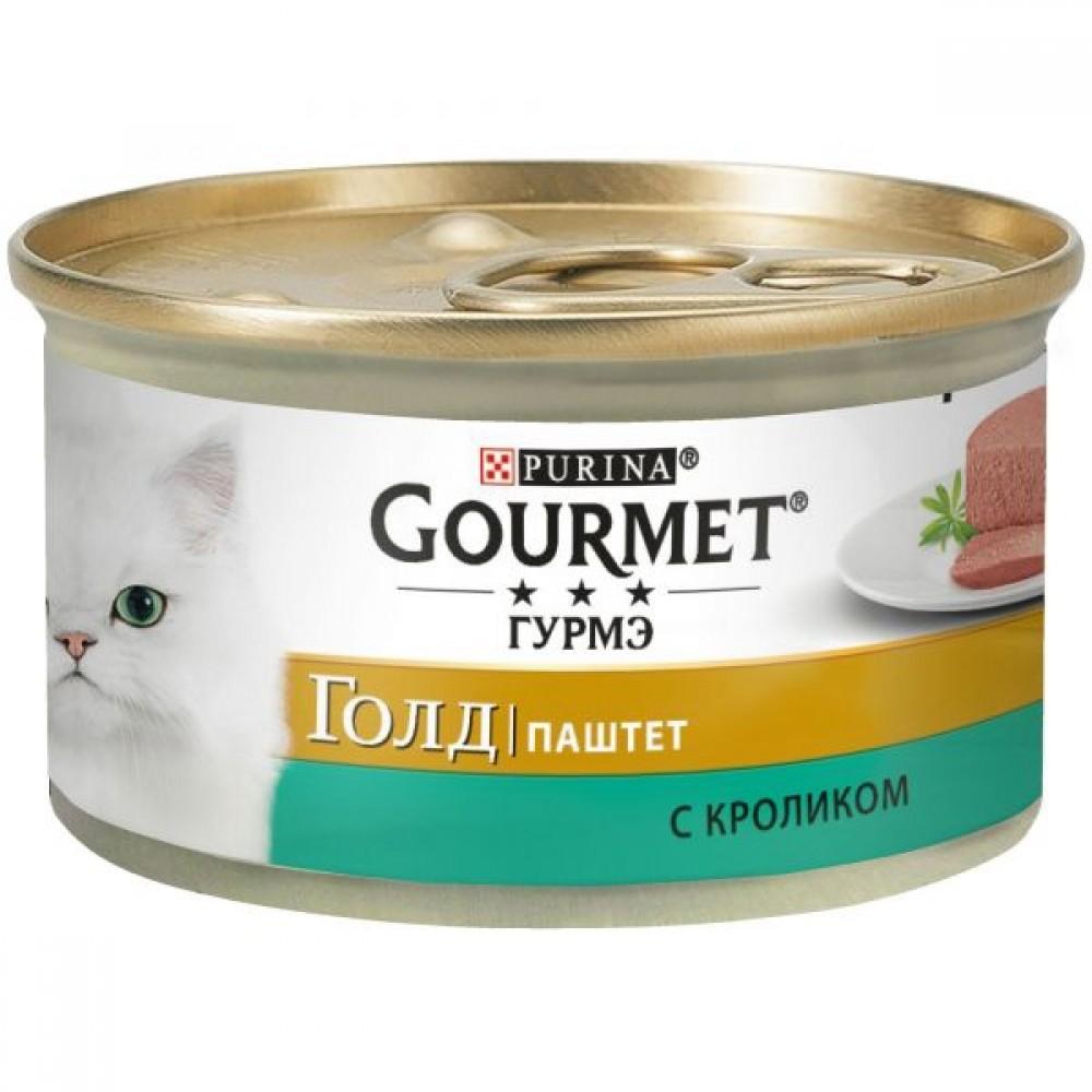 Gourmet Gold,паштет с кроликом, баночка 85 гр.