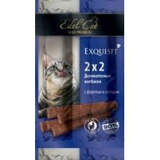 Edel Cat,колбаски-мини форель+солод,лакомство для кошек,уп.4 шт.