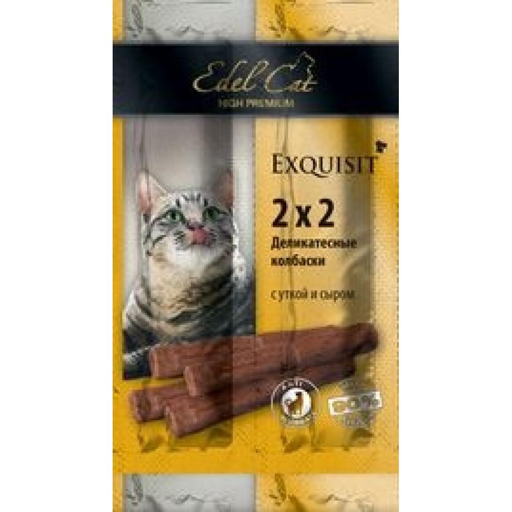 Edel Cat,колбаски-мини с уткой и сыром,лакомство для кошек,уп.4 шт.