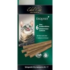 Edel Cat,колбаски заяц+печень,лакомство для кошек,уп.6 шт.