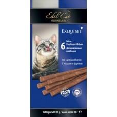 Edel Cat,колбаски лосось+форель,лакомство для кошек,уп.6 шт.