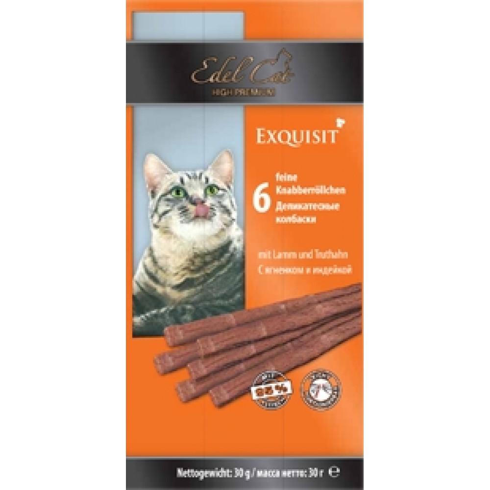 Edel Cat,колбаски ягненок+индейка,лакомство для кошек,уп.6 шт.