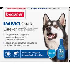 Beaphar Immo Shield Line-on,капли от паразитов для собак средних пород,1 пипетка.