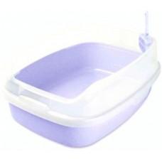ЕвроПродукт,туалет прямоугольный сиреневый,большой с бортом,62*46*25 см.