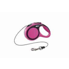 Flexi New Comfort XS, поводок рулетка розовая, для собак до 8кг, трос 3м.
