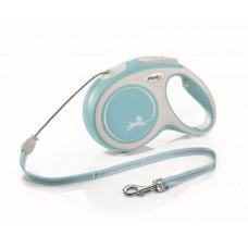 Flexi New Comfort XS, поводок рулетка светло-голубая, для собак до 8кг, трос 3м.