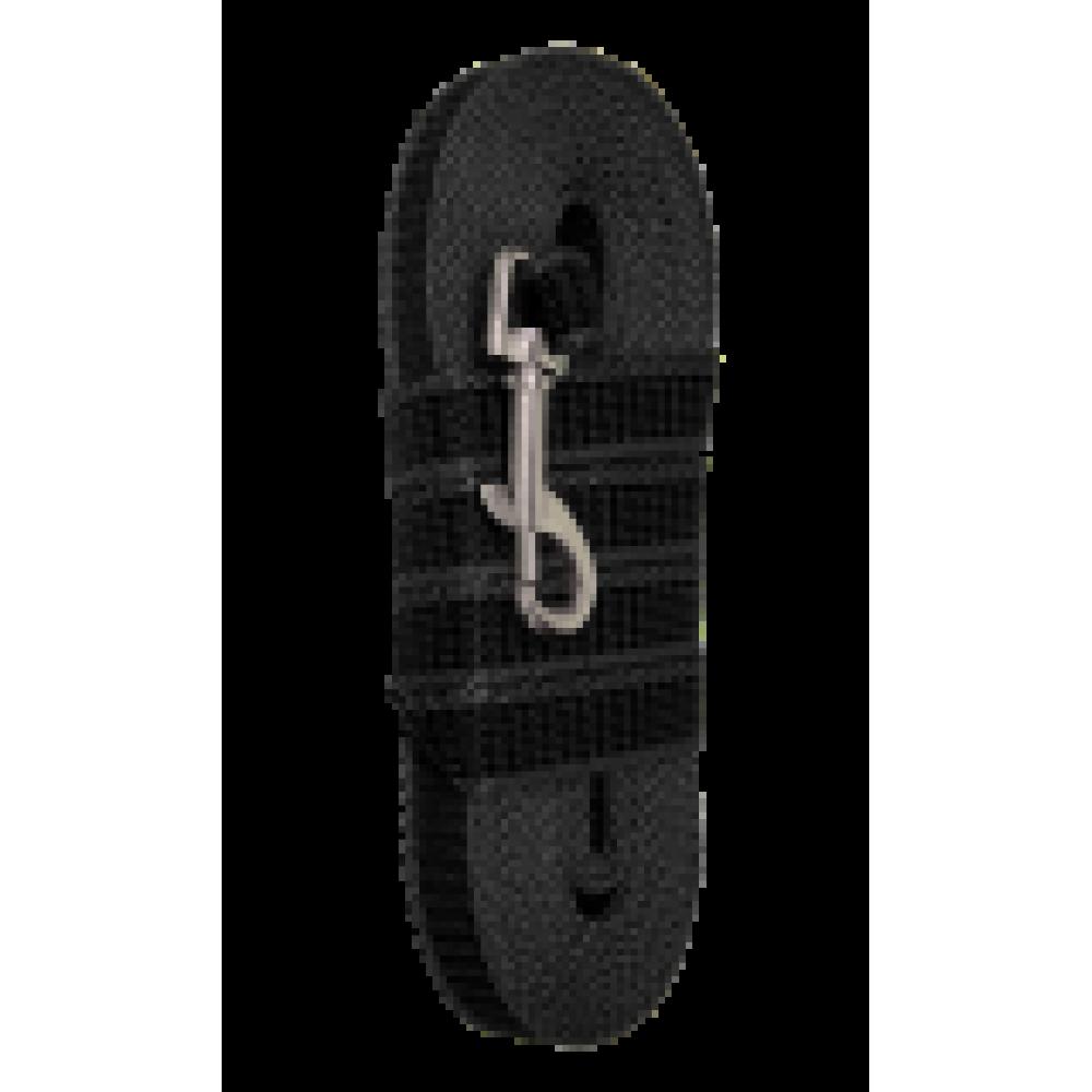 Зооник,поводок капроновый с двойной латексной нитью,5м*20 мм,серия ЭКО черный