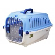 ЕвроПродукт №1,переноска пластиковая с замком,55*35*32,5,3 см.,до 5 кг.,голубая