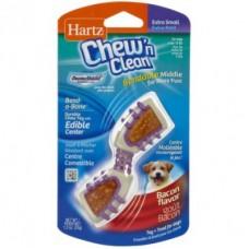 Hartz Chew`N Clean,изогнутая косточка для чистки зубов для собак экстра маленькая