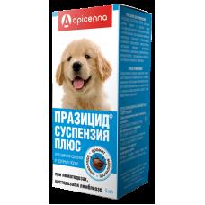 Празицид сладкая суспензия для крупных щенков,флакон 9 мл.