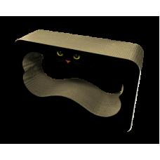 """Зооник,когтеточка большая с отверстием """"Глаза""""в форме косточки из гофрокартона,620*220*390 мм."""