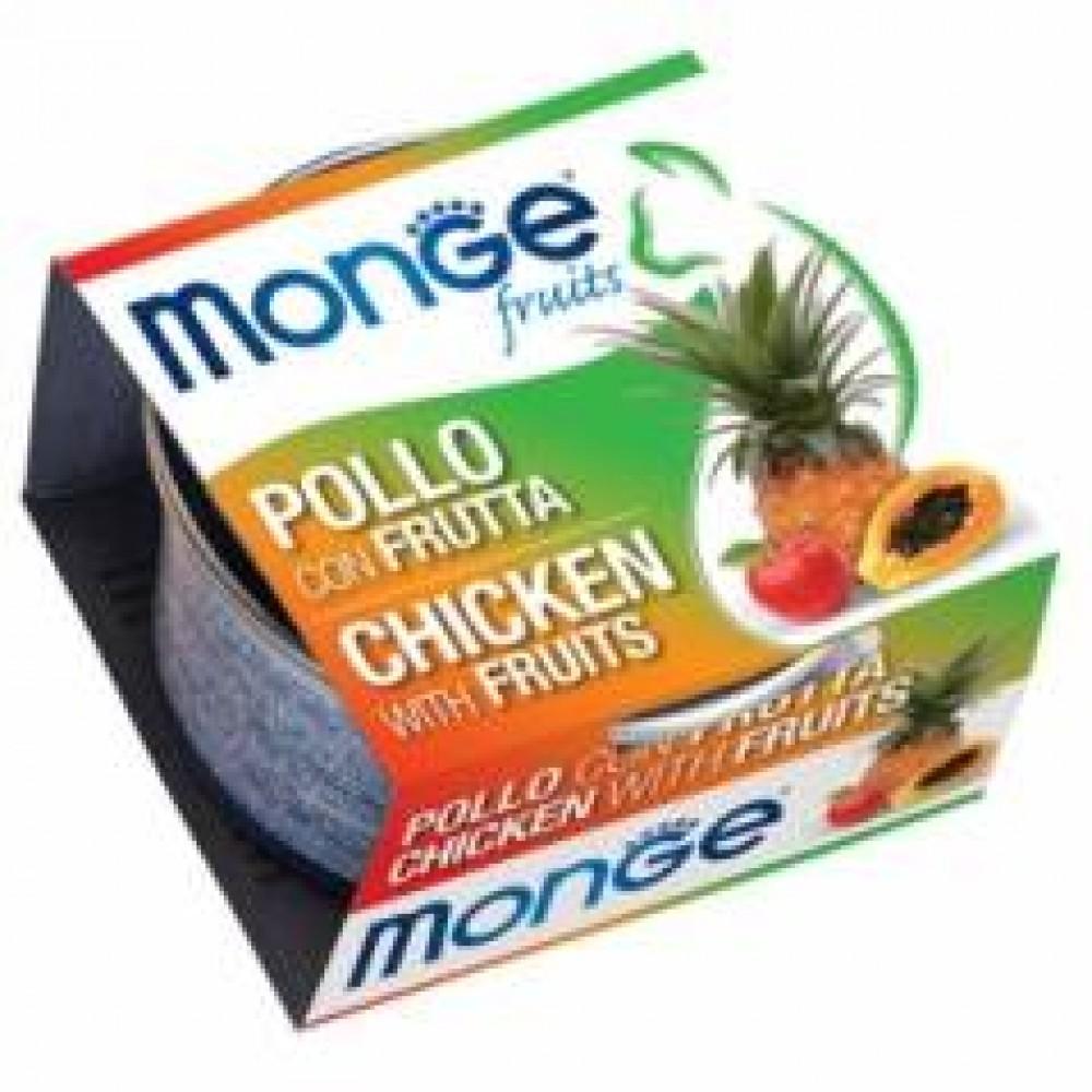 Monge Frut Cat,влажный корм для кошек с курицей и фруктами,уп.80 гр.