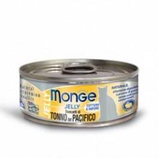 Monge Jelly Cat Cans,влажный корм для кошек в желе желтоперый тунец,банка 80 гр.