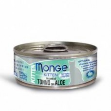 Monge Jelly Cat Cans,влажный корм для котят в желе тунец с алое,банка 80 гр.