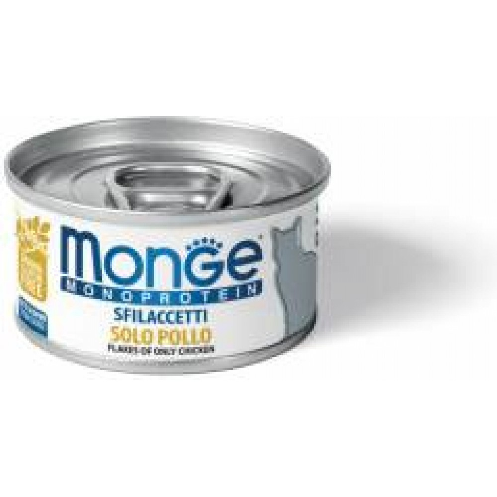 Monge Monoprotein Cat Chicken,монопротеиновый корм для кошек с курицей,банка 80 гр.