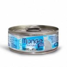 Monge Natural Cat Cans,влажный корм для кошек с атлантическим тунцом,банка 80 гр.