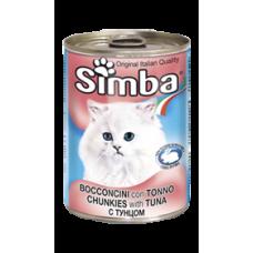 Simba Cans,кусочки с тунцом для кошек, банка 415 гр.