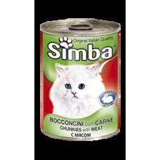 Simba Cans,кусочки с телятиной для кошек, банка 415 гр.