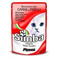 Simba Pouches,кусочки с телятиной и горхом для кошек, пауч 100 гр.