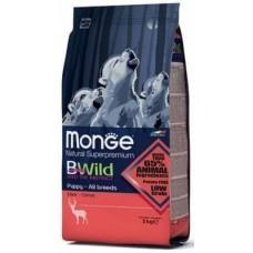 Monge BWild Dog Puppy&Junior Deer, корм для щенков и юниоров с олениной,уп.2кг.